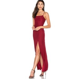 Blossom Cranberry Satin Slip Gown NWT S/M 6